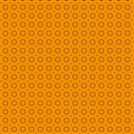 8849-O Harvest Moon Cheddar Orange Rings of Dots