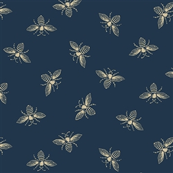 #9084-B Navy French Bees