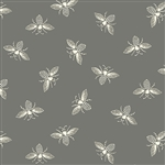 #9084-C1 FRENCH BEE Pewter Gray Bees