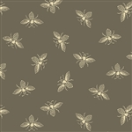 #9084-N1 Beehive Slate Gray French Bees