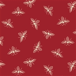 9084-R2 FRENCH BEE Cranberry Bees