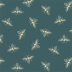 #9084-T Beehive Teal French Bees