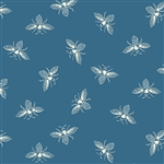 #9084-T3 FRENCH BEE Ocean Blue Bees
