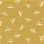 9084-Y3 FRENCH BEE Saffron Gold Bees