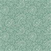 9085-G2 French Chateau Sea Spray Teal Green Floral