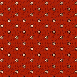 9086-R Riveria Rose Red Dotty Vines