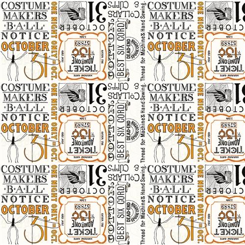 Party Patch BACKING Fabric C8368-Cream 4-3/8 yards