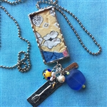 1930's Quilt Charm Necklace