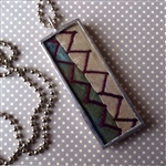 Antique Crazy Quilt Charm Necklace