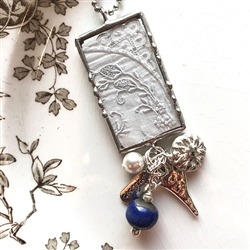 Vintage Hankie Charm Necklace