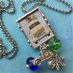 Home for Christmas Charm Necklace