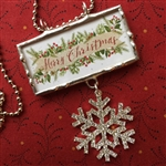 Merry Christmas Charm Necklace