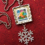 Christmas Stamp Charm Necklace