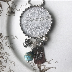 Antique Lace Charm Necklace