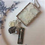 Vintage Lace Charm Necklace