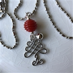 Swirl Tree Charm Necklace