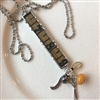 Antique Tapemeasure Charm Necklace