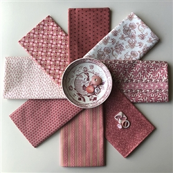 Flower Bed Pinks Fat Quarters