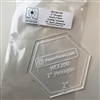 "2"" Hexagon Acrylic Template"