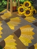 Dresden Sunflower Pattern & Template