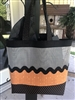 CLASSY ORANGE & GRAY Halloween Tote Kit