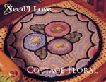 Cottage Floral Hooked Rug Canvas