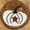 Pumpkin Star Hook Rug Canvas