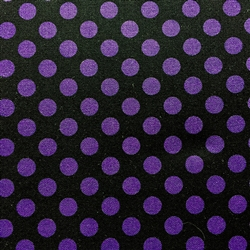 Polka Dots Pearl on Purple