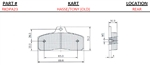 Tony Rear (Old) (Medium) Brake Pads (sold as a pair)