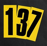 Black Adhesive Number, With Yellow Background