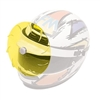 Helmet Turbo Visor in Yellow Color