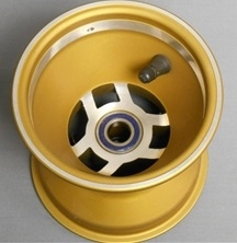 "Direct Spindle Mount Wheel 17mm Spindle - 5"" x 5"" Gold"