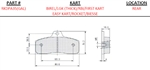 Birel/Lgk Rear (For Aluminum Rotors)