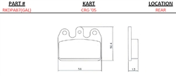 Crg Rear '03 Rear (Medium) (Galfer) Brake Pads
