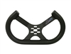 "13"" Aluminum Open Top Tilted Steering Wheel (Low Profile) BLACK"