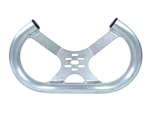"13"" Aluminum Open Top Tilted Steering Wheel (Low Profile) SILVER"