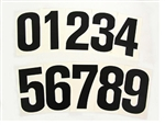 Go Kart Racing Numbers Black (10 pack)
