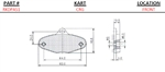 CRG Brake Pad Dimensions