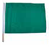Green Racing Flag