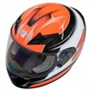 Zamp FS-9 Graphic Orange Black Go Kart Helmet