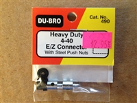 Dubro 4-40 Ez Connector w/ Steel Push Nuts