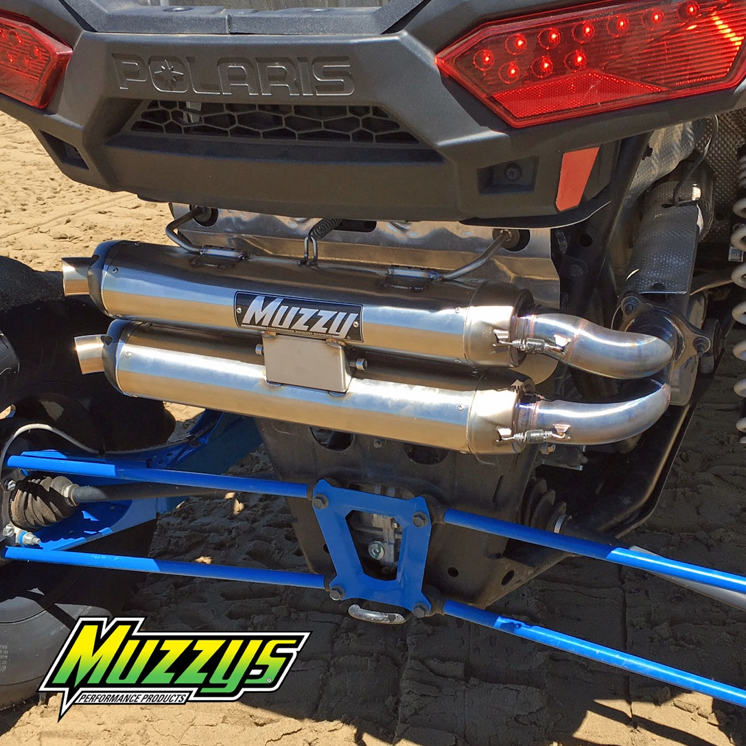 Polaris RZR XP Turbo Muzzy's Dual Slip On Exhaust