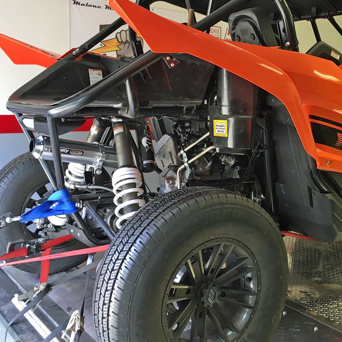 Yamaha YXZ1000R Trinity Slip-on Exhaust Brushed