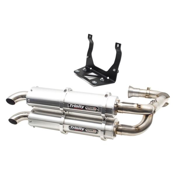 CanAm Maverick X3 Trinity Dual Exhaust System Brushed