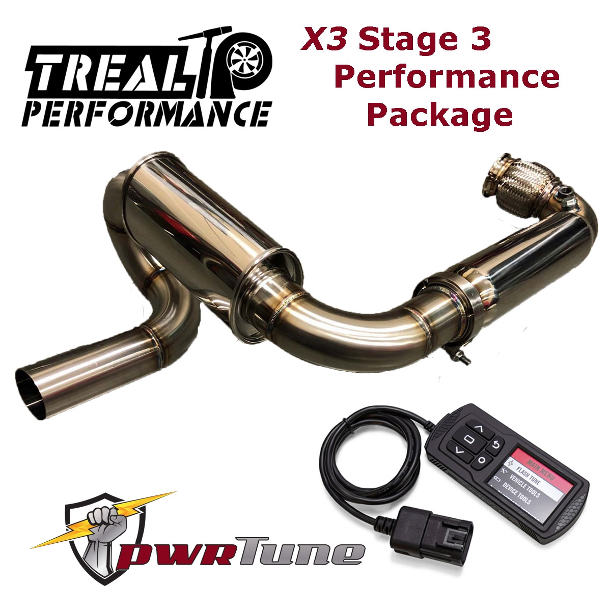 Treal Performance Exhaust X3 Stage 3 Package: Sport Full Exhaust