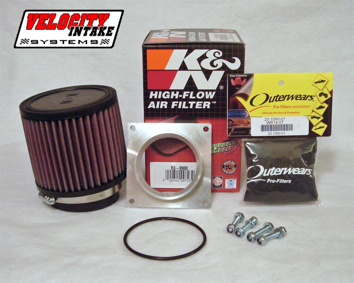 Suzuki LTZ400 Z400 Airbox Adapter with K&N Air Filter