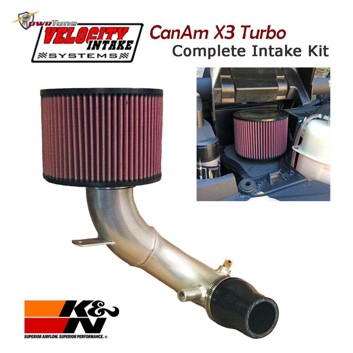 CanAm X3 Turbo Velocity Intake System K&N