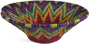 "Small Lavumisa Basket- Rainbow 8"" x 3"" OUT OF STOCK"