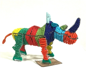 Bead & Wire Animal - Rhino
