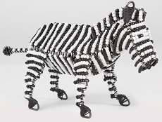 Bead & Wire Animal - Zebra